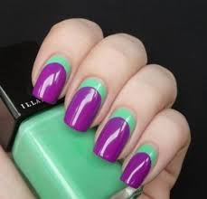how to do the easiest two toned nail art nails pinterest