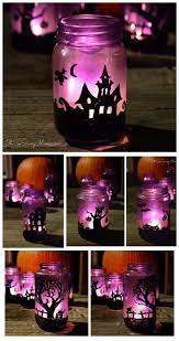 diy upcycled halloween village luminaries craft oh so savvy mom