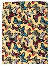 butterfly area rugs nourison home and garden rs018 yellow area rug free shipping