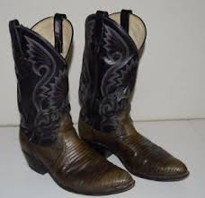 vintage brown amazonas leather reptile skin cowboy boots s