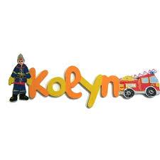 prenom en bois pour chambre prénom en bois pompier lettre bois