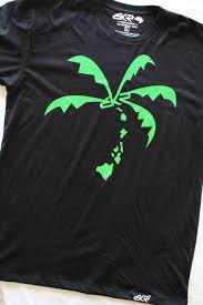 blueprints tagged bkr hi island coco tree tee in black green