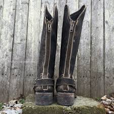 womens boots distressed leather circle g by corral s distressed leather harness toe