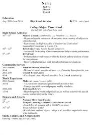 resume template for high students applying for college high resume for college template best 25 high resume