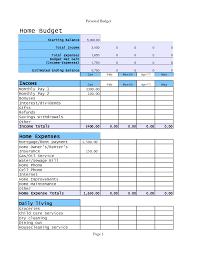 Excel Home Budget Templates Home Budget Template Tristarhomecareinc