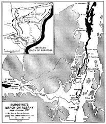 Albany Map Map Of The Burgoyne U0027s March On Albany June October 1777 American