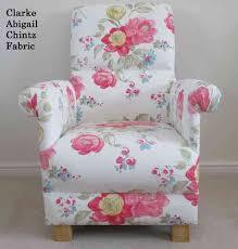 Chic Armchair Clarke U0026 Clarke Abigail Chintz White Fabric Chair Shabby