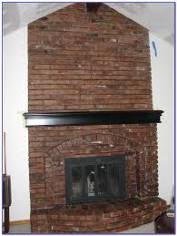 colors that go with red brick fireplace painting home design