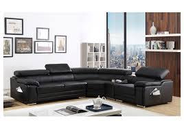 canapé angle cuir noir canape d angle en cuir noir maison design hosnya com