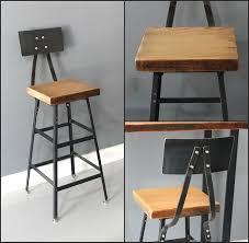 Industrial Counter Stools Amazon Com Bar Stool Counter Stool Handmade Reclaimed Wood