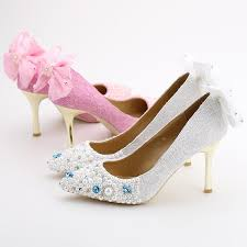 wedding shoes glasgow 2016 white pink lace flower shoes pointed toe metal thin