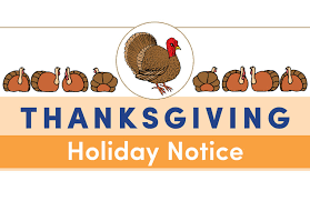 thanksgiving notice 2017 reliant