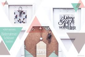 schluesselkasten design geschenk zum einzug bilderrahmen schlüsselkasten dreimalanders