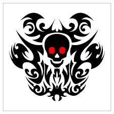 skull tribal designs clip library