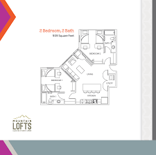 2 Bedroom Floor Plans by Floor Plans Mountain Lofts