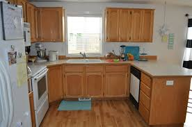 small u shaped kitchen with island decor