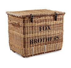 Cane Laundry Hamper by Somerset Willow Wool Work Basket Store The Merchant Fox
