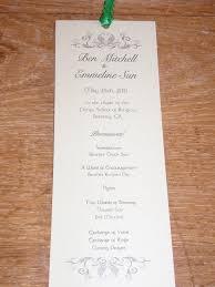 ideas for wedding programs wedding 23 tremendous wedding programs photo inspirations