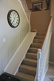 diy stair slide or how to add a slide to your stairs stair