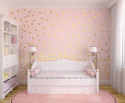 Metallic Gold Wall Decals Polka Dot Wall Sticker Decor