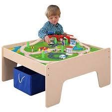thomas train table amazon amazon com wooden activity table with 45 piece train set storage