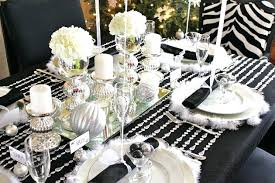 black and silver table decor dining room decorations table
