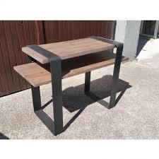 bureau metal et bois bureau industriel métal et bois les vieilles choses