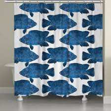 Shower Curtains With Fish Theme Fish Eel Bluefish Sea Bass Mackerel Nautical Underwater