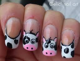 cow funky french nail art nail art pinterest french nail art