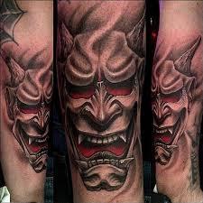 hannya mask tattoo black and grey stefano alcantara tattoos color hannya mask tattoo