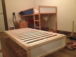 loft bed hacks i hacked an extra bunk under the ikea kura double bunk bed you