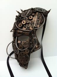 phantom mask steampunk style clockwork mask by richardsymonsart