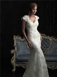 mermaid cap sleeve v neck two in one lace wedding dress open back