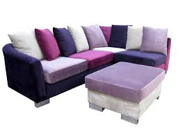 Multi Coloured Zara Corner Sofa And Footstool Corner Sofas - Sofa and footstool