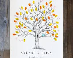 wedding tree guest book alternatives custom artwork the original by bleudetoi