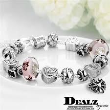 pandora charm bracelet sterling silver images Heart pendant pandora charm bracelet 925 sterling silver plated jpg