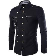 new men shirt fashion slim fit long sleeve dress casual brand