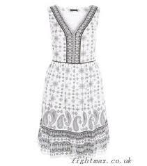 abstract pattern sleeveless dress zlk8895eim dresses white abstract print sleeveless smock dress white