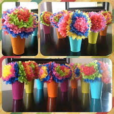 Mexican Themed Decorations Cinco De Mayo Centerpieces Mexican Tissue Paper Flowers