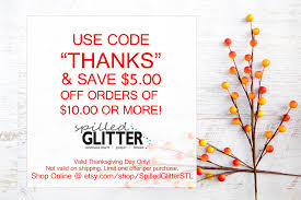 thanksgiving day special offer spilled glitter