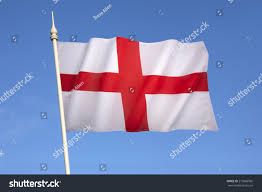 Flag And Cross Flag England St Georges Cross Red Stock Foto 219566905 Shutterstock