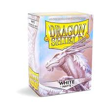 dragon shield matte white standard size card sleeves 100ct