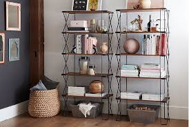How To Decorate A Bookcase Stylish Walls How To Decorate A Shelf Pottery Barn