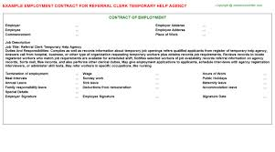 temporary receptionist employment contracts