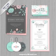 wedding invitations freepik wedding invitation labels and menu vector free