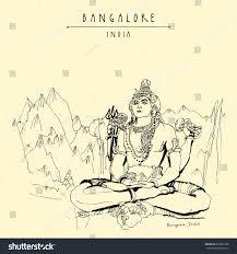 bangalore bengaluru karnataka india shiva statue stock vector