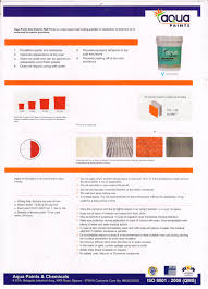 our products aqua paints and chemicals mysore