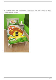Nursery Furniture Set Sale Uk by Calaméo Raa Raa The Noisy Lion Jungle Single Bed Duvet Set Big Sale
