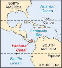 location canap panama canal students britannica homework help