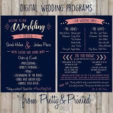 customized wedding programs invitation customized wedding program 2512231 weddbook